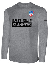 EAST ISLIP SLAMMERS LONG SLEEVE COTTON T-SHIRT -- LIGHT HEATHER GREY