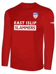EAST ISLIP SLAMMERS LONG SLEEVE COTTON T-SHIRT -- RED