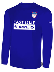 EAST ISLIP SLAMMERS LONG SLEEVE COTTON T-SHIRT -- ROYAL BLUE WHITE