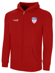 EAST ISLIP SLAMMERS FLEECE ZIP UP HOODIE -- RED WHITE