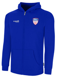 EAST ISLIP SLAMMERS FLEECE ZIP UP HOODIE -- ROYAL BLUE WHITE