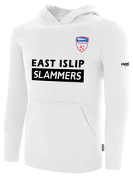 EAST ISLIP SLAMMERS FLEECE PULLOVER HOODIE -- WHITE BLACK