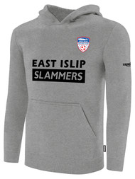 EAST ISLIP SLAMMERS FLEECE PULLOVER HOODIE -- LIGHT HEATHER GREY