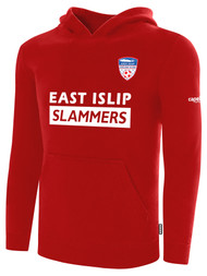 EAST ISLIP SLAMMERS FLEECE PULLOVER HOODIE -- RED
