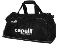 "NEXT GEN CAPELLI SPORT SMALL TEAM DUFFLE BAG- 20.5""LX12""WX11""H -- BLACK WHITE"