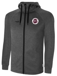 SLAMMERS FC BASICS THERMA FLEECE ZIP UP HOODIE -- DARK HEATHER GREY -- IS ON BACK ORDER, WILL SHIP BY 2/8/21
