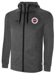 SOUTH SLAMMERS BASICS THERMA FLEECE ZIP UP HOODIE -- DARK HEATHER GREY -- IS ON BACK ORDER, WILL SHIP BY 2/8/21