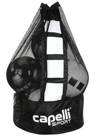 PENN FC YOUTH SMALL BALL BAG- FITS 10-12 INFLATED BALLS   --   BLACK   WHITE