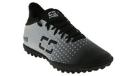 PENN FC YOUTH CS FUSION TURF SOCCER SHOES -- BLACK SILVER