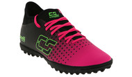 PENN FC YOUTH CS FUSION TURF SOCCER SHOES -- NEON PINK NEON GREEN BLACK