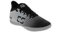 PENN FC YOUTH CS FUSION INDOOR SOCCER SHOES -- BLACK SILVER