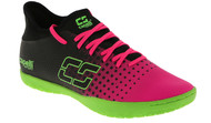 PENN FC YOUTH CS FUSION  INDOOR SOCCER SHOES -- NEON PINK NEON GREEN BLACK
