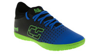 PENN FC YOUTH CS FUSION INDOOR SOCCER SHOES -- PROMO BLUE NEON GREEN BLACK