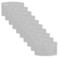 CDA SLAMMERS 10 PACK DISPOSABLE FILTERS FOR FABRIC MASKS - GREY