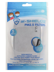 PENN FC YOUTH 10 PACK DISPOSABLE FILTERS FOR FABRIC MASKS -- GREY