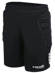 ALBION SAN DIEGO CS GOALKEEPER SHORTS WITH PADDING -- BLACK WHITE