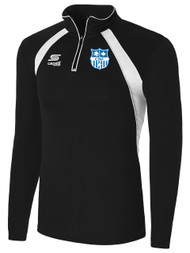 CAPELLI SPORT RAVEN 1/4 ZIP --  BLACK WHITE