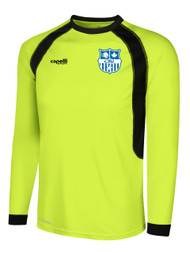 YOUTH/ADULT  RAVEN LONG SLEEVE GOALIE JERSEY --  LIME BLACK