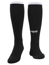 CS ONE SOCCER SOCK WITH ANKLE AND ARCH SUPPORT - BLACK WHITE