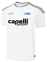 SYRACUSE RUSH SPARROW MATCH SHORT SLEEVE AWAY JERSEY  --  WHITE GREY  --  AM IS OUT OF STOCK; PLEASE CHOOSE AS OR AL INSTEAD