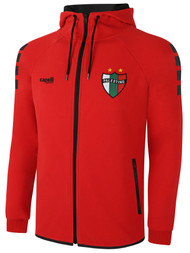 PALESTINO LIFESTYLE TECH FLEECE ZIP HOODIE   -- BRIGHT RED BLACK