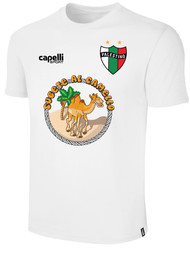 PALESTINO COTTON T-SHIRTS WITH CAMEL DESIGN - WHITE