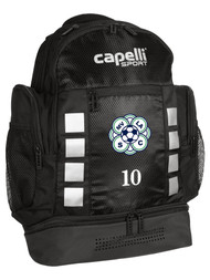 ECNL 4 CUBE BACKPACK  --  BLACK SILVER