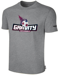 NASC BASICS TEE SHIRT W/ TEXT GRAVITY LOGO -- LIGHT HEATHER GREY