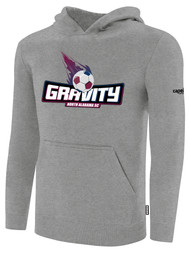 NASC BASICS HOODIE W/ TEXT GRAVITY LOGO -- LIGHT HEATHER GREY