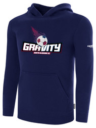 NASC BASICS HOODIE W/ TEXT GRAVITY LOGO -- NAVY