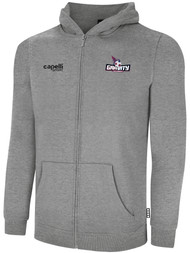 NASC BASICS ZIP HOODIE W/ TEXT GRAVITY LOGO -- LIGHT HEATHER GREY