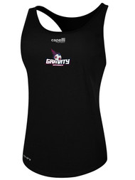 NASC WOMENS BASICS RACER BACK TANK TEXT GRAVITY LOGO -- BLACK  --  IS ON BACK ORDER, WILL SHIP BY 11/15