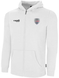 ALBION SC® SAN DIEGO PB BASICS FLEECE FULL ZIP HOODIE -- WHITE BLACK