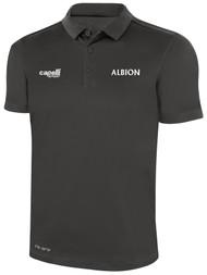 ALBION SC® SAN DIEGO NORTH PB CLASSICS POLY POLO -- DARK GREY WHITE