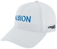 ALBION SC MERCED PB CS II TEAM BASEBALL CAP W/ BLUE TEXT LOGO -- WHITE BLACK