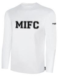MIFC FAN SHOP LONG SLEEVE COTTON T-SHIRT -- WHITE BLACK