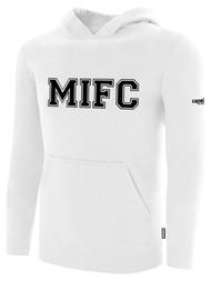 MIFC FAN SHOP FLEECE PULLOVER HOODIE -- WHITE BLACK