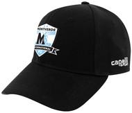 MIFC TEAM BASEBALL HAT -- BLACK WHITE