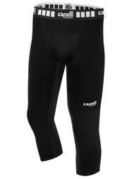 MIFC BOYS AND MEN 3/4 PERFORMANCE TIGHTS -- BLACK WHITE