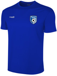 ADULTS BASICS TRAINING JERSEYS --   WHITE ROYAL BLUE