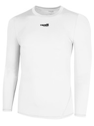 MONTANA YOUTH THERMADRY LONG SLEEVE COMPRESSION TOP --   WHITE