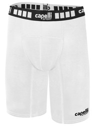 MONTANA YOUTH THERMADRY COMPRESSION SHORTS  --  WHITE