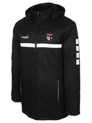 COAST FA SPARROW STADIUM JACKET WITH REMOVABLE HOOD -- BLACK WHITE