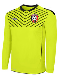 HUB FLASH SPARROW LONG SLEEVE GOALIE JERSEY WITH PADDING -- NEON YELLOW BLACK