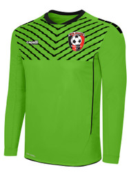 HUB FLASH SPARROW LONG SLEEVE GOALIE JERSEY WITH PADDING -- POWER GREEN BLACK