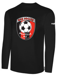 HUB LONG SLEEVE COTTON T-SHIRT-- BLACK