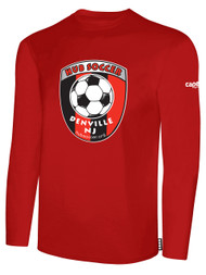 HUB LONG SLEEVE COTTON T-SHIRT-- RED