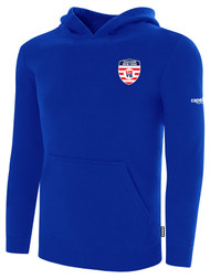 EASTERN NY FLEECE PULLOVER HOODIE -- ROYAL BLUE WHITE