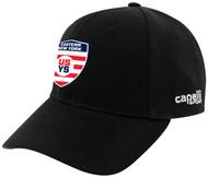 EASTERN NY BASEBALL CAP     --  BLACK WHITE