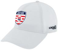 EASTERN NY BASEBALL CAP     --  WHITE BLACK